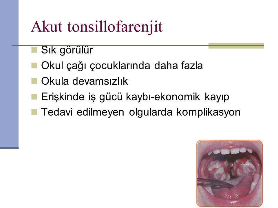 Akut tonsillofarenjit