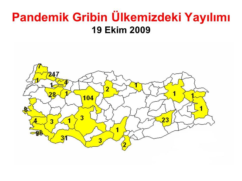 Pandemik Gribin Ülkemizdeki Yayılımı 19 Ekim 2009