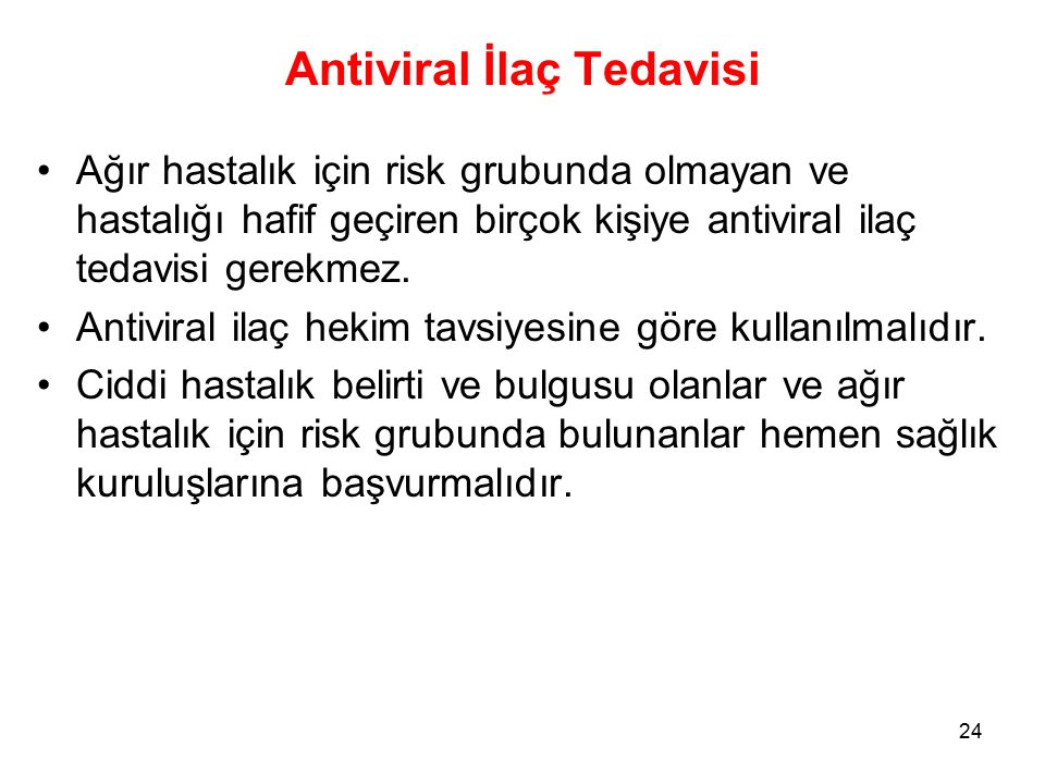 Antiviral İlaç Tedavisi