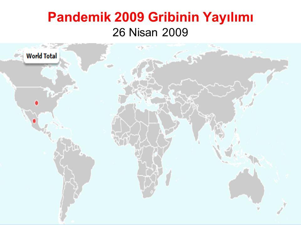 Pandemik 2009 Gribinin Yayılımı 26 Nisan 2009