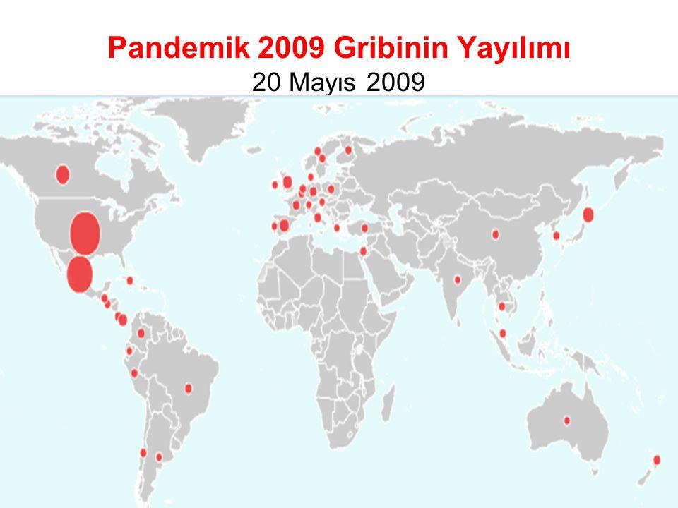 Pandemik 2009 Gribinin Yayılımı 20 Mayıs 2009