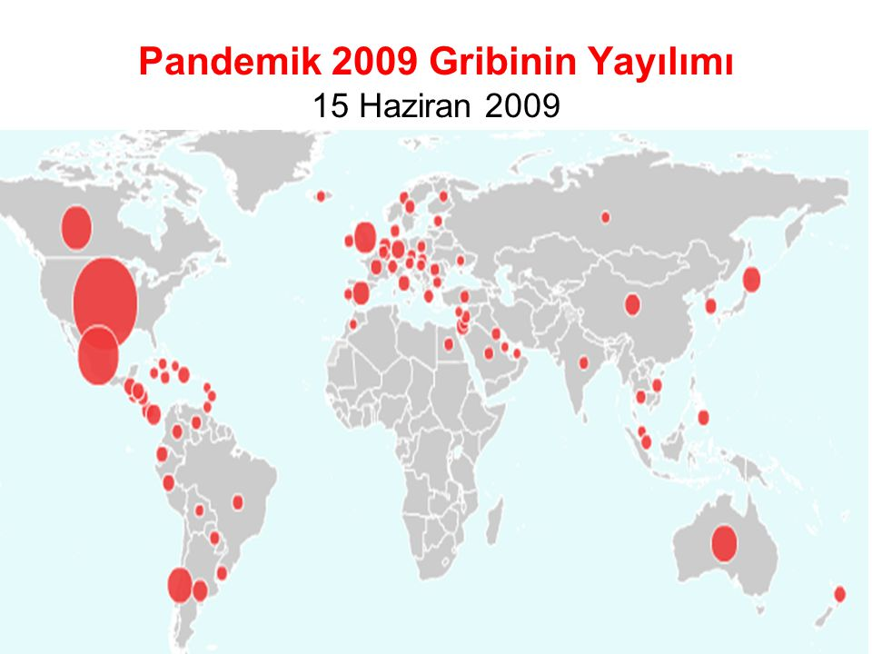 Pandemik 2009 Gribinin Yayılımı 15 Haziran 2009