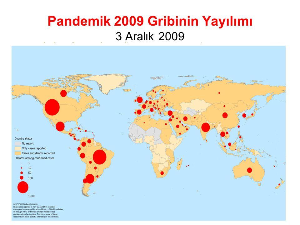 Pandemik 2009 Gribinin Yayılımı 3 Aralık 2009