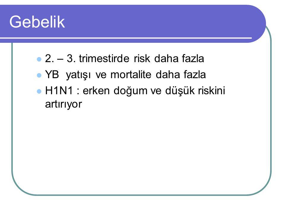 Gebelik 2. – 3. trimestirde risk daha fazla
