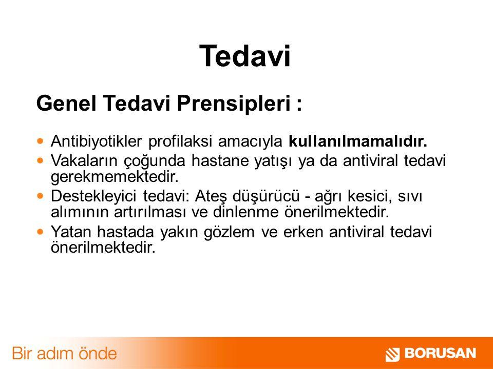 Tedavi Genel Tedavi Prensipleri :