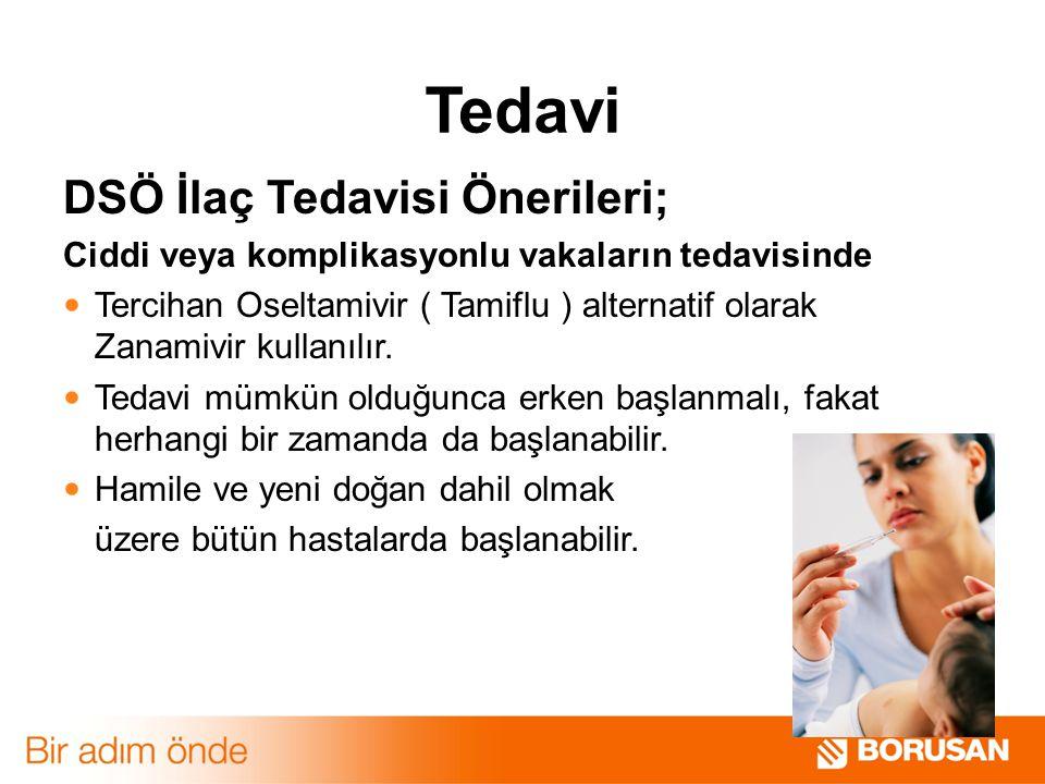 Tedavi DSÖ İlaç Tedavisi Önerileri;