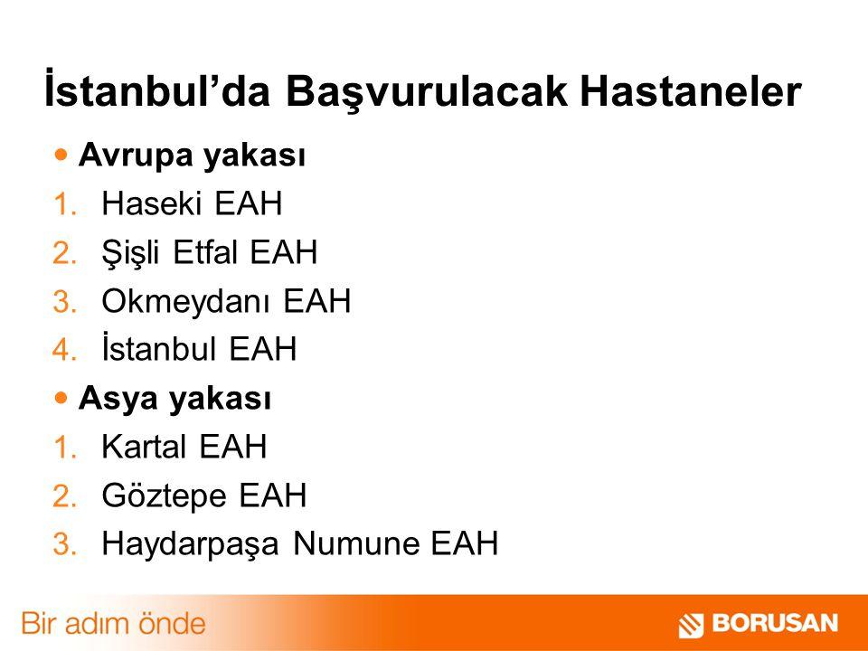 İstanbul'da Başvurulacak Hastaneler