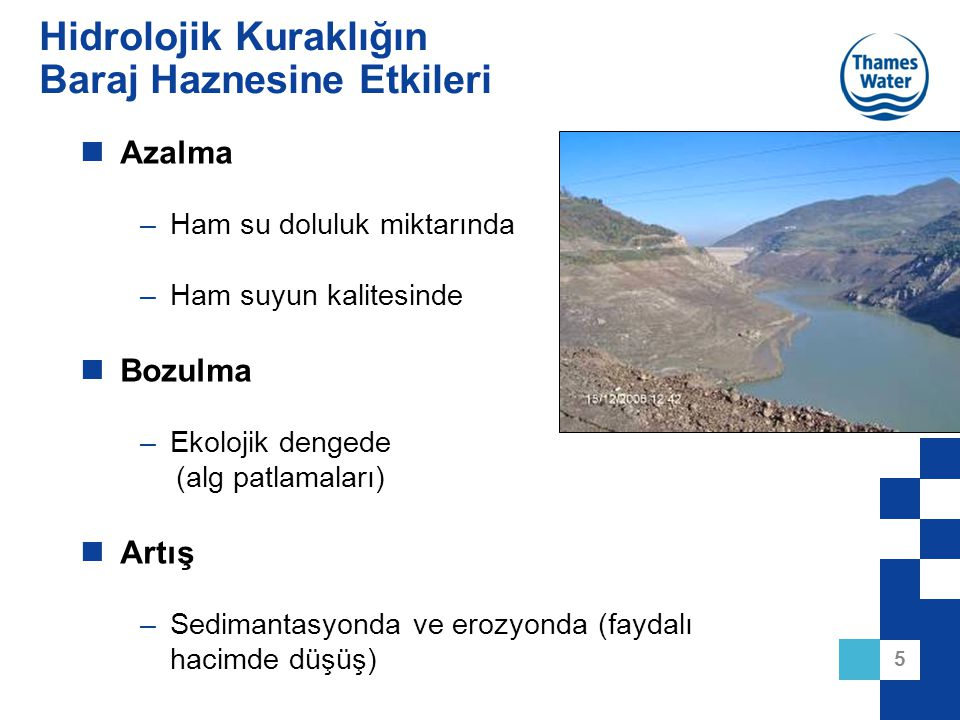 Hidrolojik Kuraklığın Baraj Haznesine Etkileri