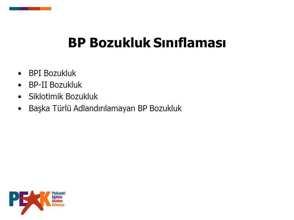 BP Bozukluk Sınıflaması