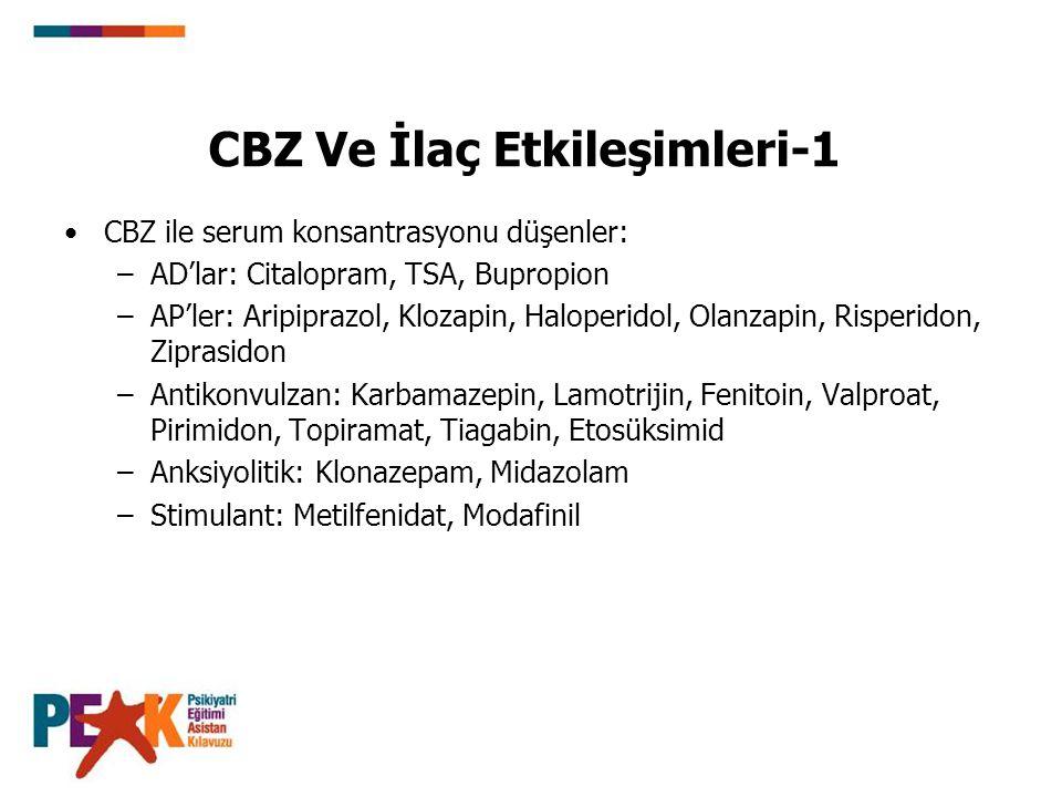 CBZ Ve İlaç Etkileşimleri-1