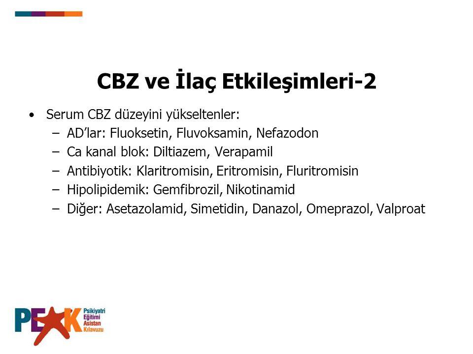 CBZ ve İlaç Etkileşimleri-2