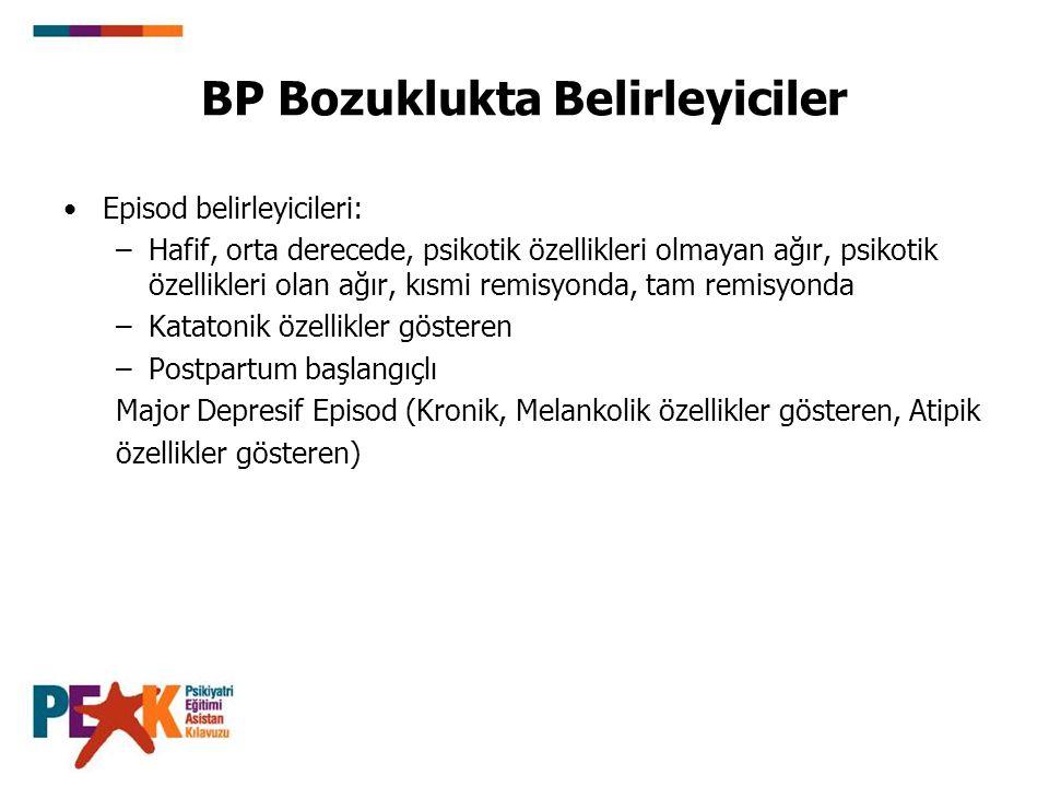BP Bozuklukta Belirleyiciler
