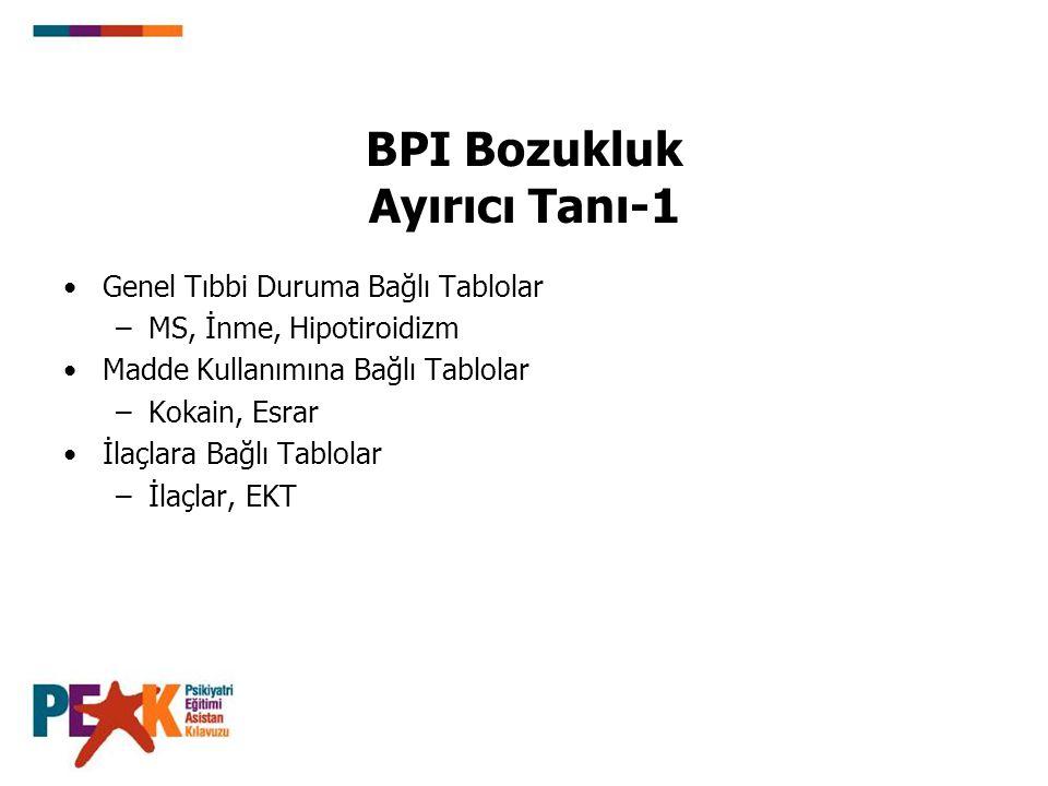 BPI Bozukluk Ayırıcı Tanı-1