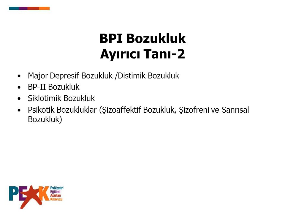 BPI Bozukluk Ayırıcı Tanı-2