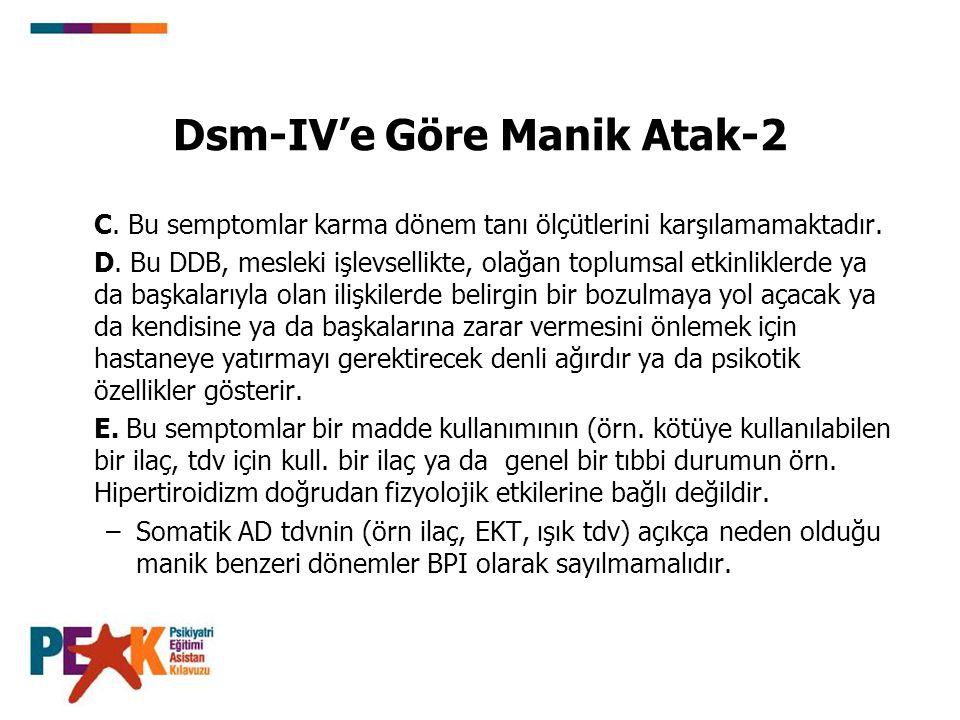 Dsm-IV'e Göre Manik Atak-2