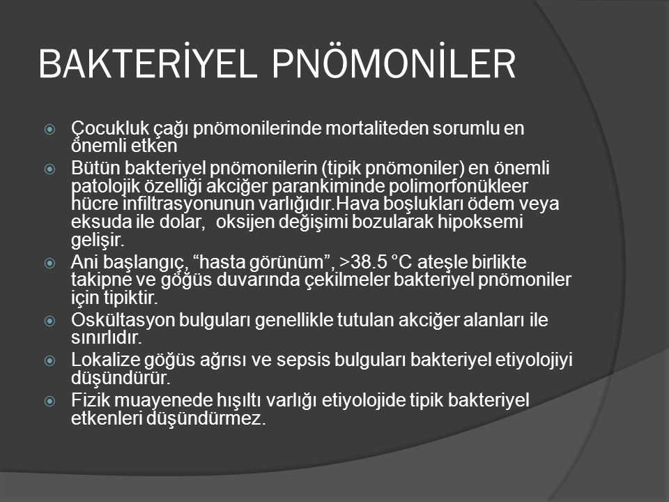 BAKTERİYEL PNÖMONİLER