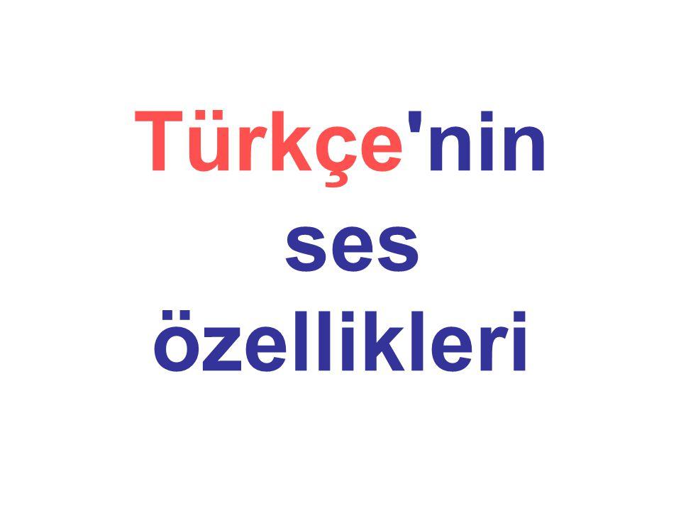 Türkçe nin ses özellikleri