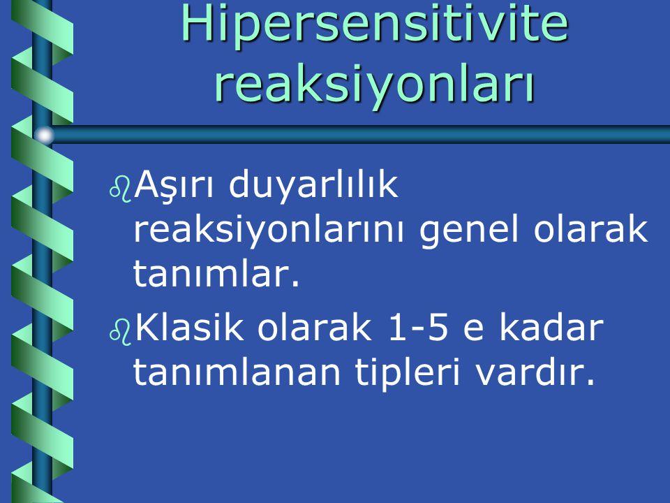 Hipersensitivite reaksiyonları