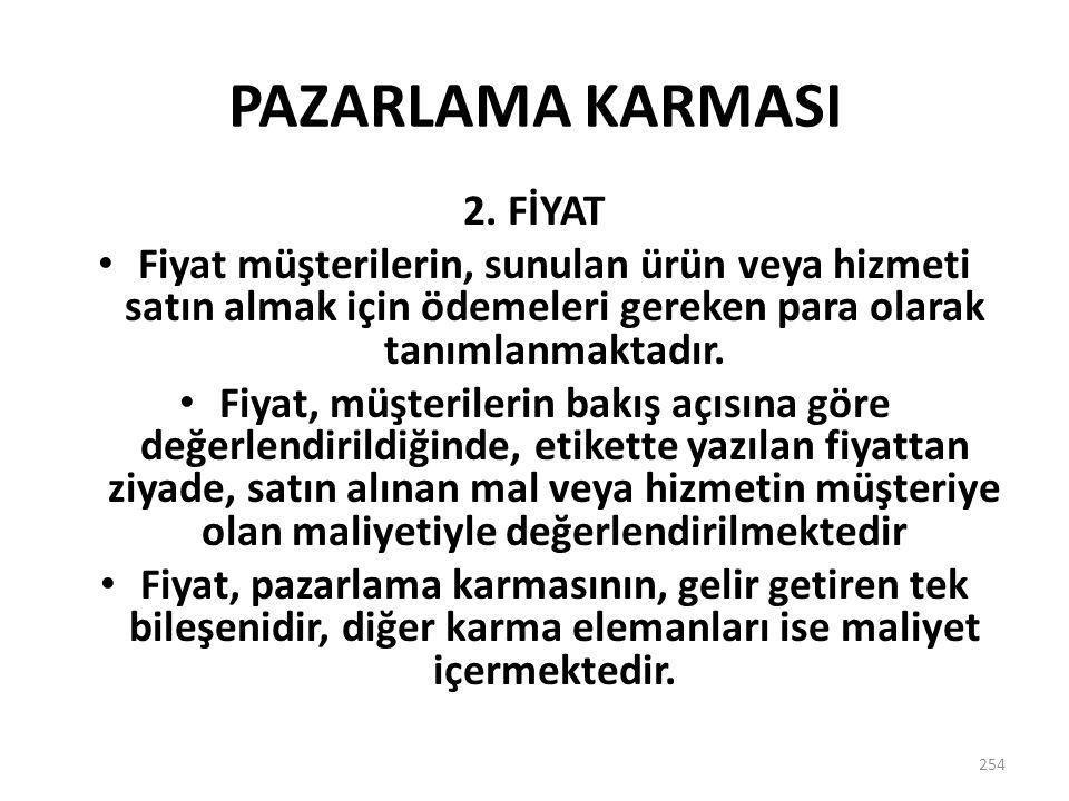 PAZARLAMA KARMASI 2. FİYAT