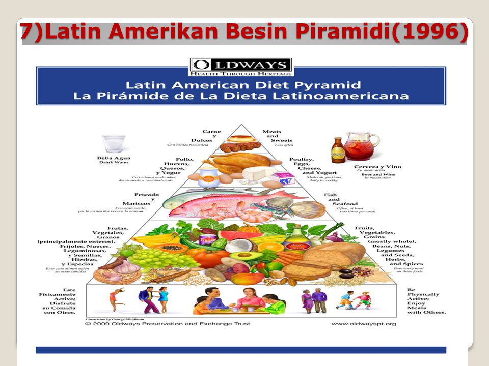 7)Latin Amerikan Besin Piramidi(1996)