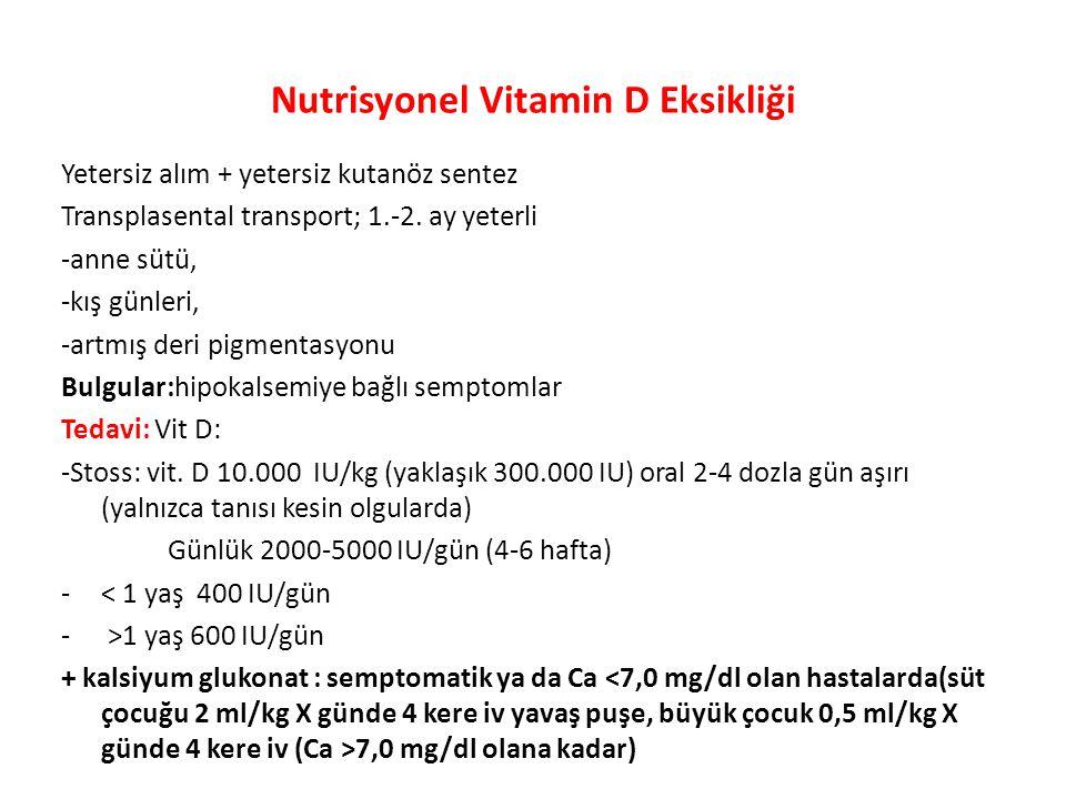 Nutrisyonel Vitamin D Eksikliği