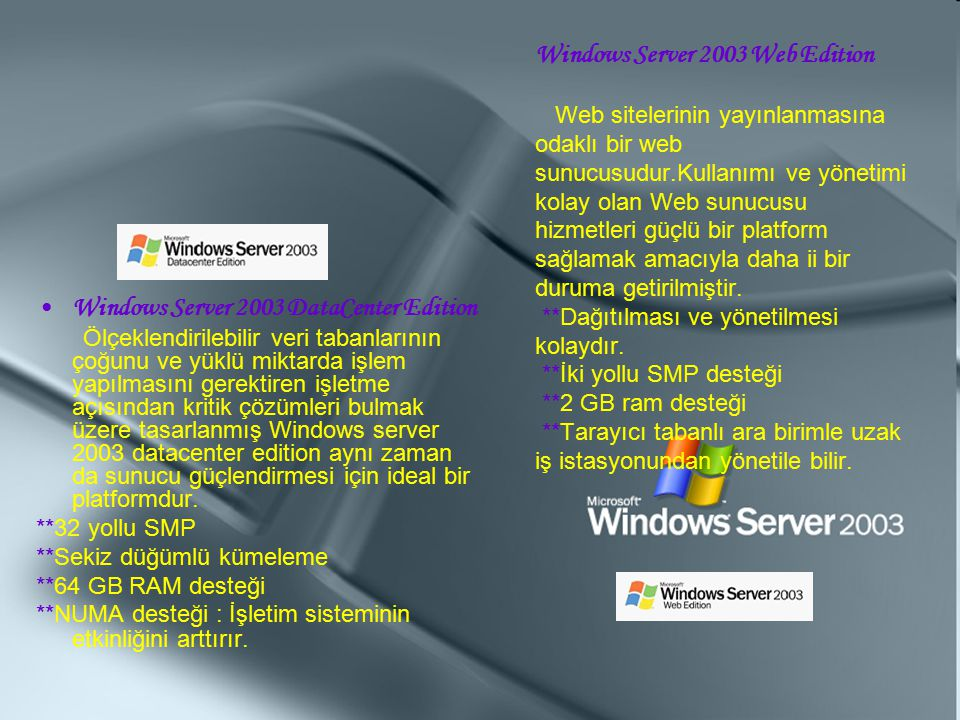 Windows Server 2003 DataCenter Edition