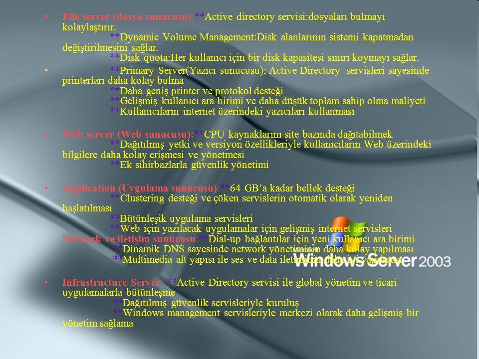 File server (dosya sunucusu):