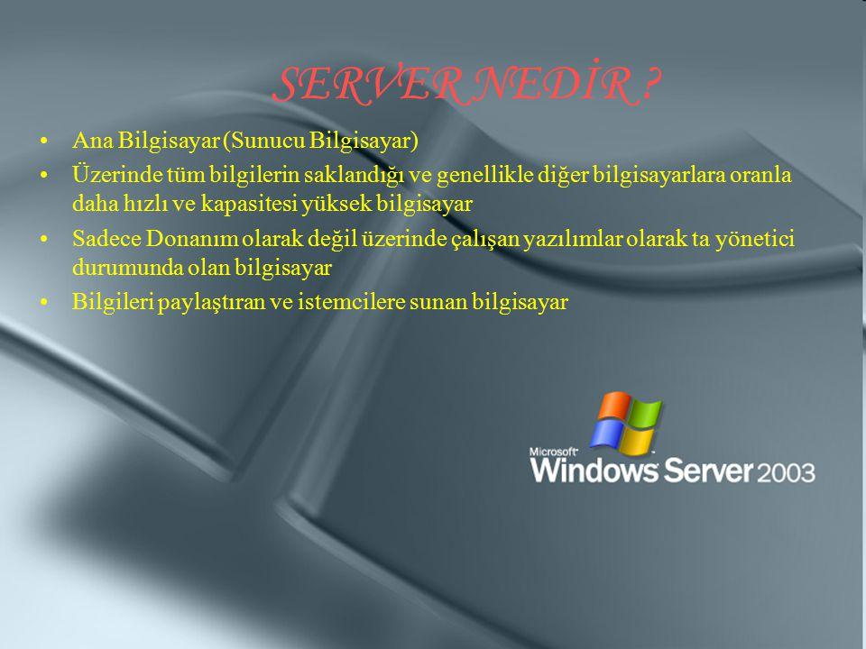 SERVER NEDİR Ana Bilgisayar (Sunucu Bilgisayar)