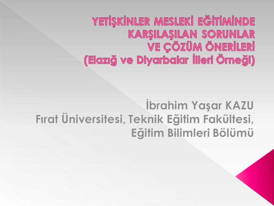 Fırat Üniversitesi, Teknik Eğitim Fakültesi, Eğitim Bilimleri Bölümü