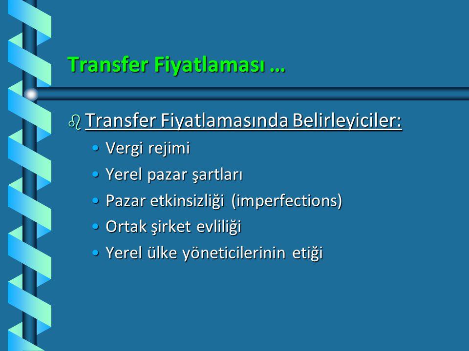 Transfer Fiyatlaması …