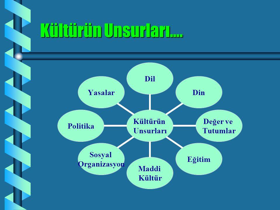 Kültürün Unsurları…. 6