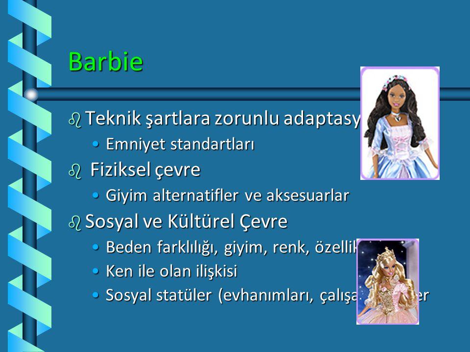 Barbie Teknik şartlara zorunlu adaptasyon Fiziksel çevre