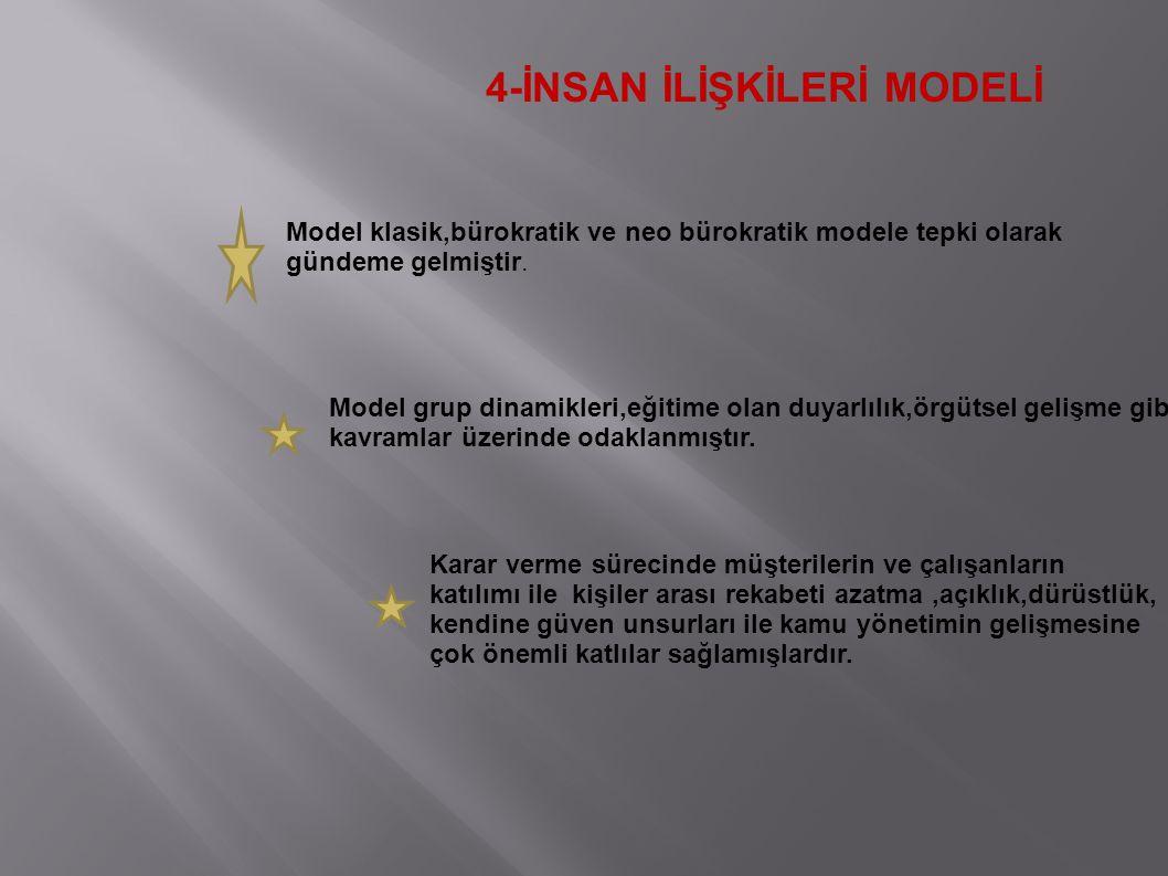 4-İNSAN İLİŞKİLERİ MODELİ
