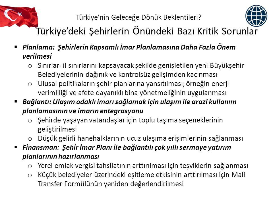 Türkiye'deki Şehirlerin Önündeki Bazı Kritik Sorunlar