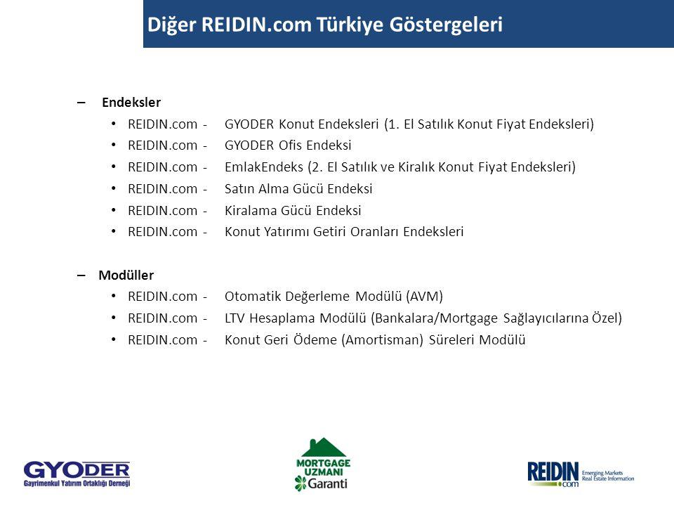 Diğer REIDIN.com Türkiye Göstergeleri