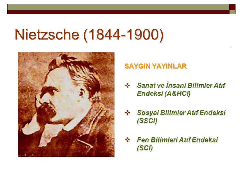 Nietzsche (1844-1900) SAYGIN YAYINLAR