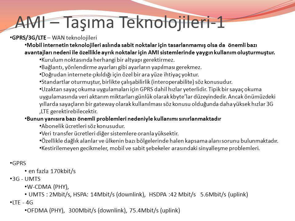 AMI – Taşıma Teknolojileri-1