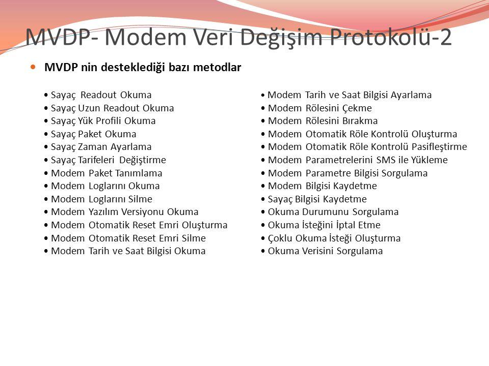 MVDP- Modem Veri Değişim Protokolü-2