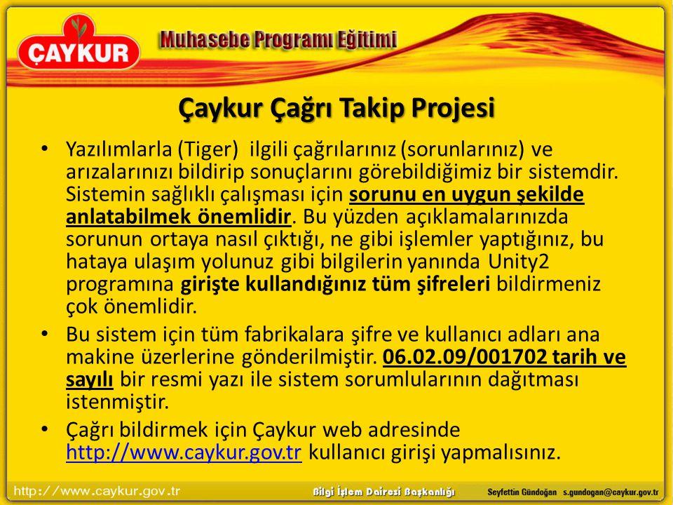 Çaykur Çağrı Takip Projesi
