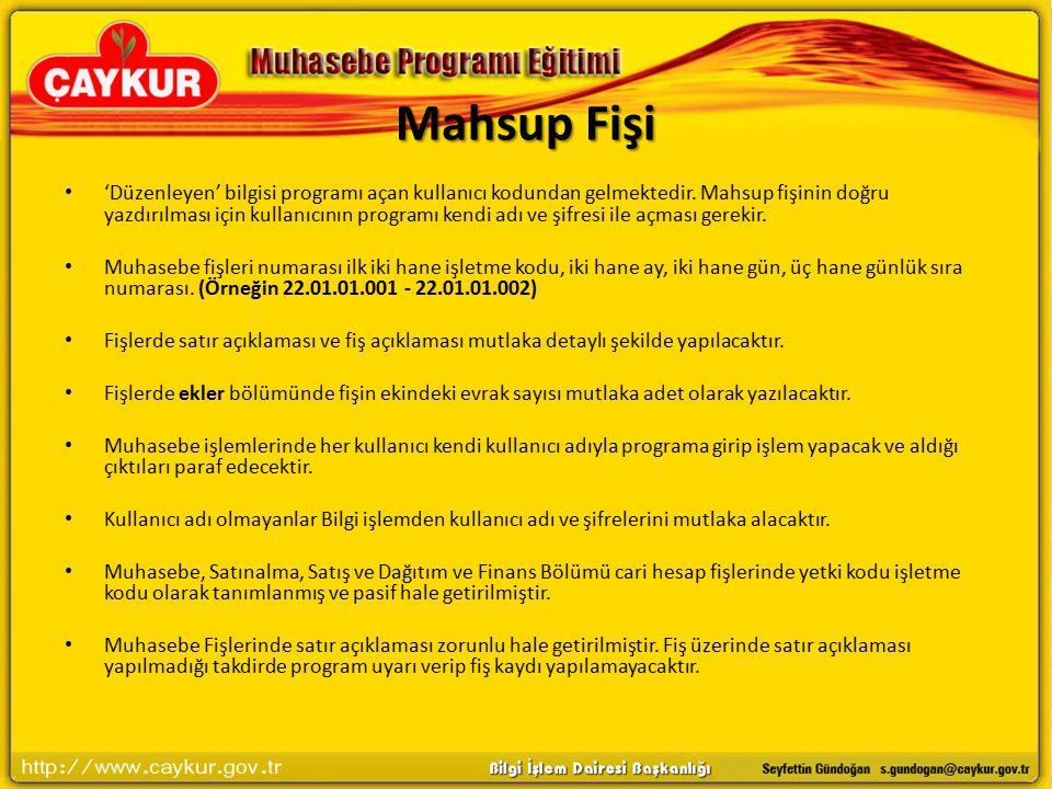 Mahsup Fişi