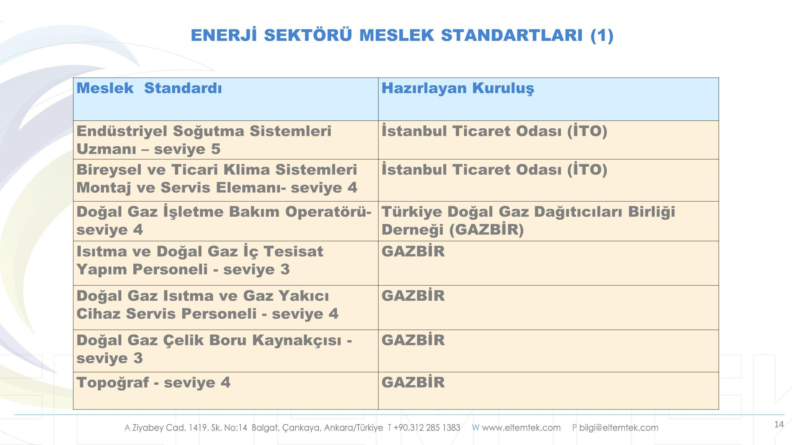 ENERJİ SEKTÖRÜ MESLEK STANDARTLARI (1)