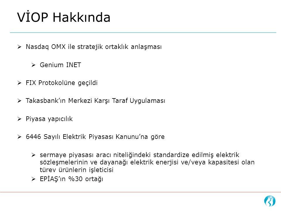 VİOP Hakkında Nasdaq OMX ile stratejik ortaklık anlaşması Genium INET