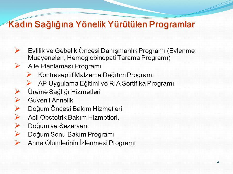 Kadın Sağlığına Yönelik Yürütülen Programlar