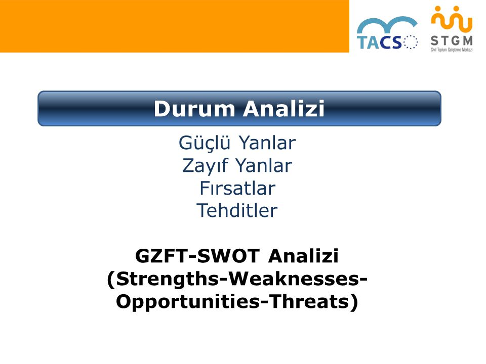 (Strengths-Weaknesses-Opportunities-Threats)