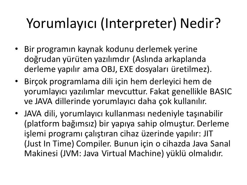 Yorumlayıcı (Interpreter) Nedir