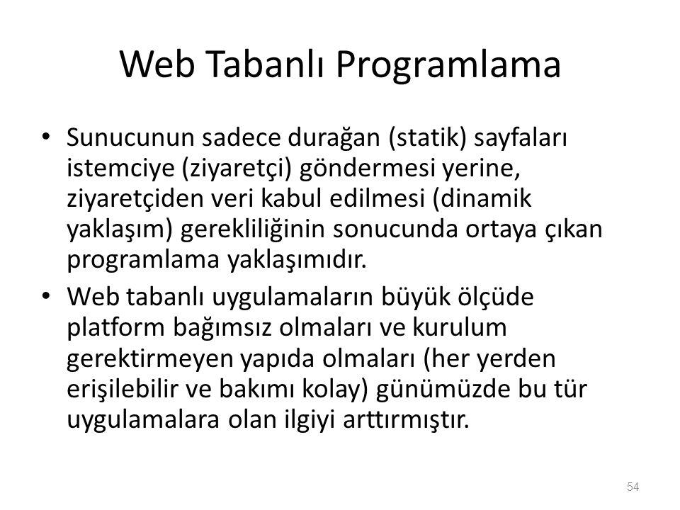 Web Tabanlı Programlama