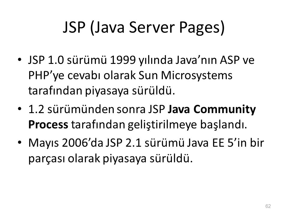 JSP (Java Server Pages)