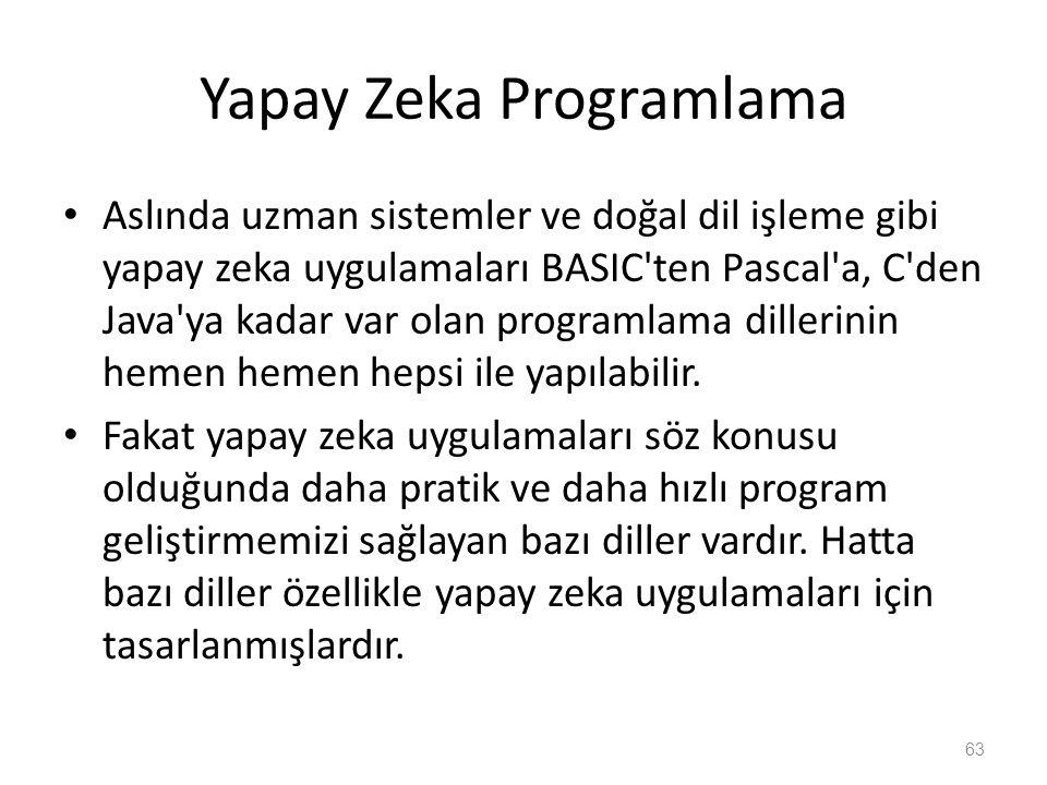 Yapay Zeka Programlama