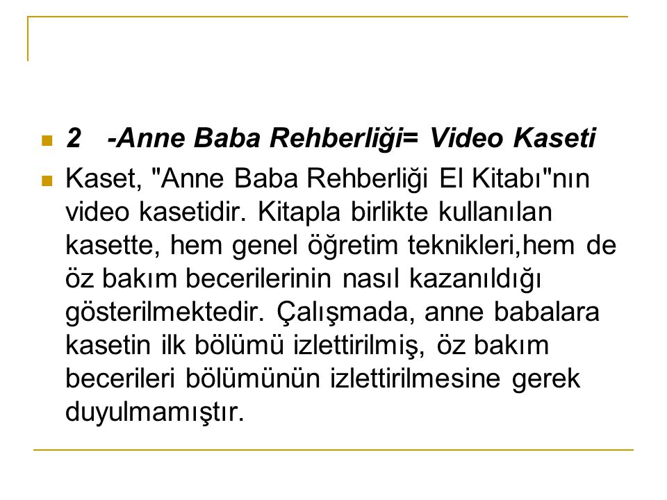 2 -Anne Baba Rehberliği= Video Kaseti