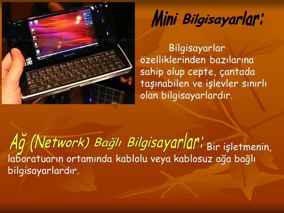 Ağ (Network) Bağlı Bilgisayarlar: